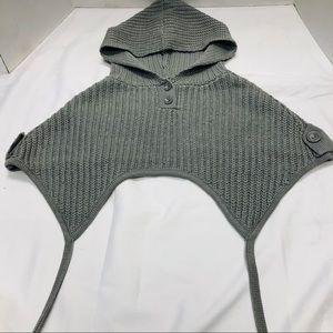 Cecico Grey Poncho Sweater